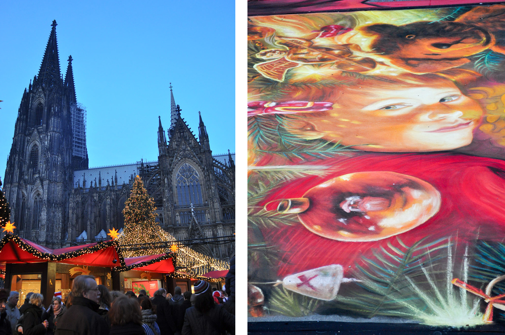 The Christmas market in Cologne, Germany