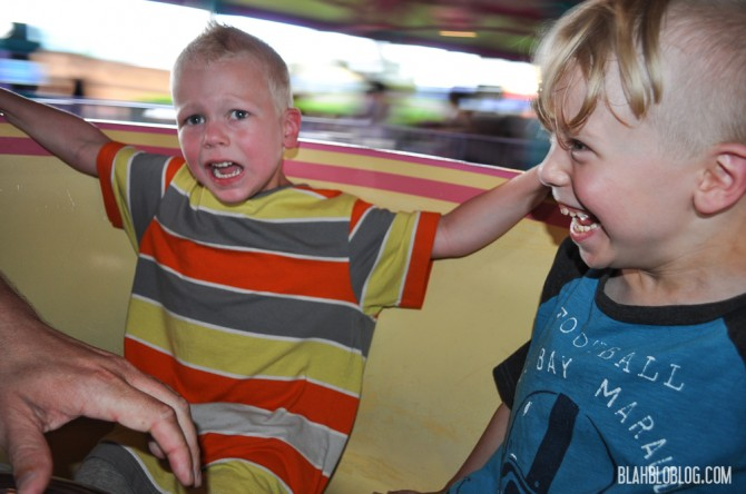 One kid loves, one kid hates the Teacups at Disney World Orlando