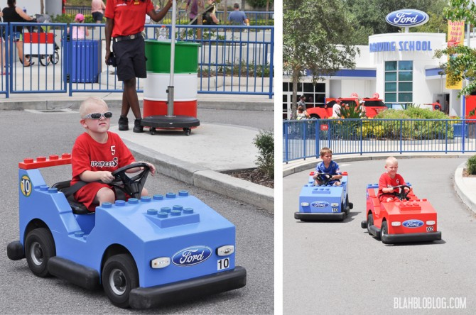 the cars at Legoland Florida