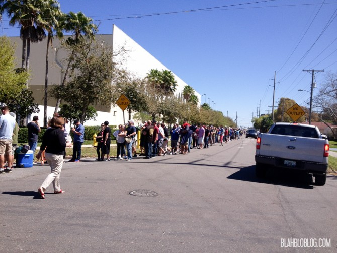 long lines at Cigar City's Hunahpu's Day stretched around the block