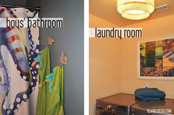 bath and laundry room paint color makeover