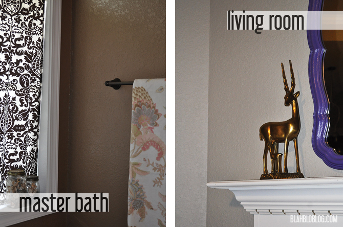 bath and living room paint color makeover