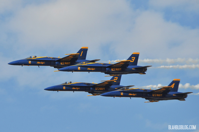 The Blue Angels Homecoming Air Show in Pensacola