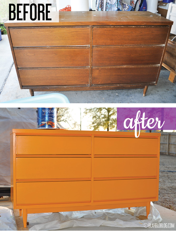 midcentury dresser diy before and after